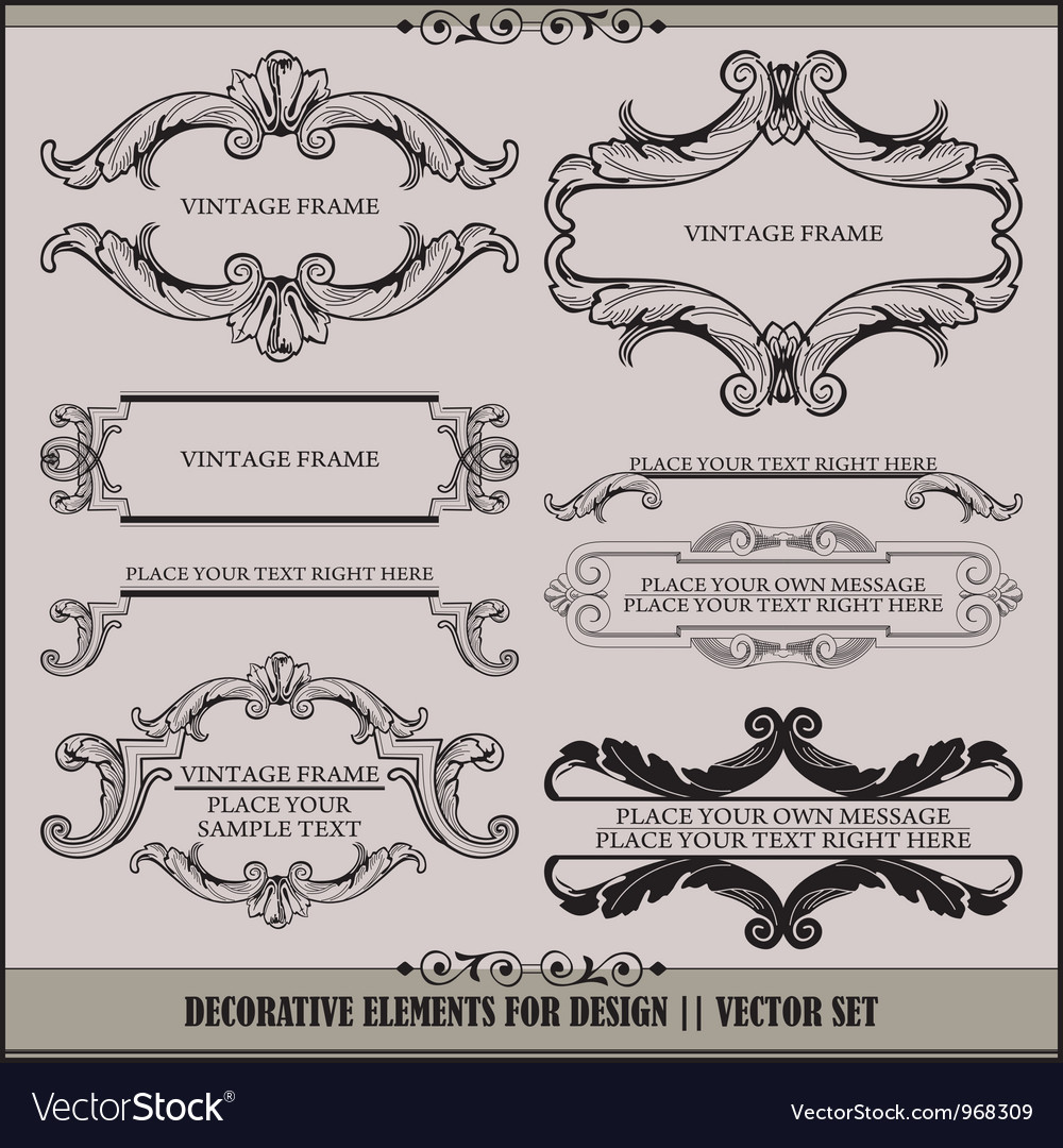 Alligraphic design elements and page decoration vector | Price: 1 Credit (USD $1)