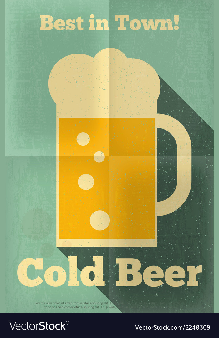Beer poster single vector | Price: 1 Credit (USD $1)