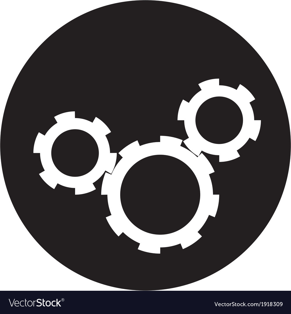 Black cogs vector | Price: 1 Credit (USD $1)