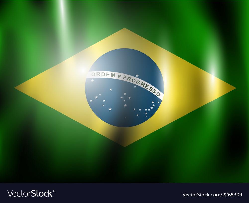 Brazillian flag vector | Price: 1 Credit (USD $1)
