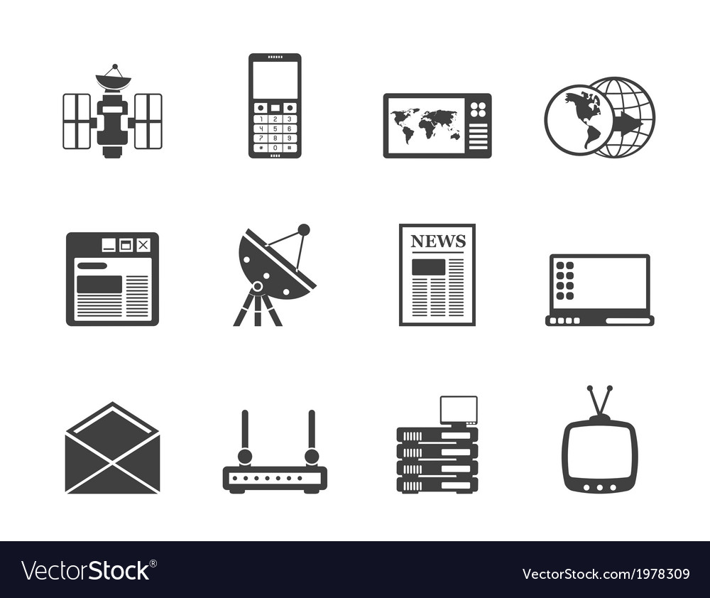 Communication and business icons vector | Price: 1 Credit (USD $1)