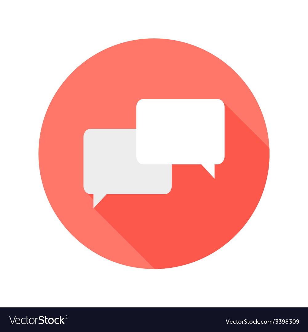 Communication circle flat icon vector | Price: 1 Credit (USD $1)