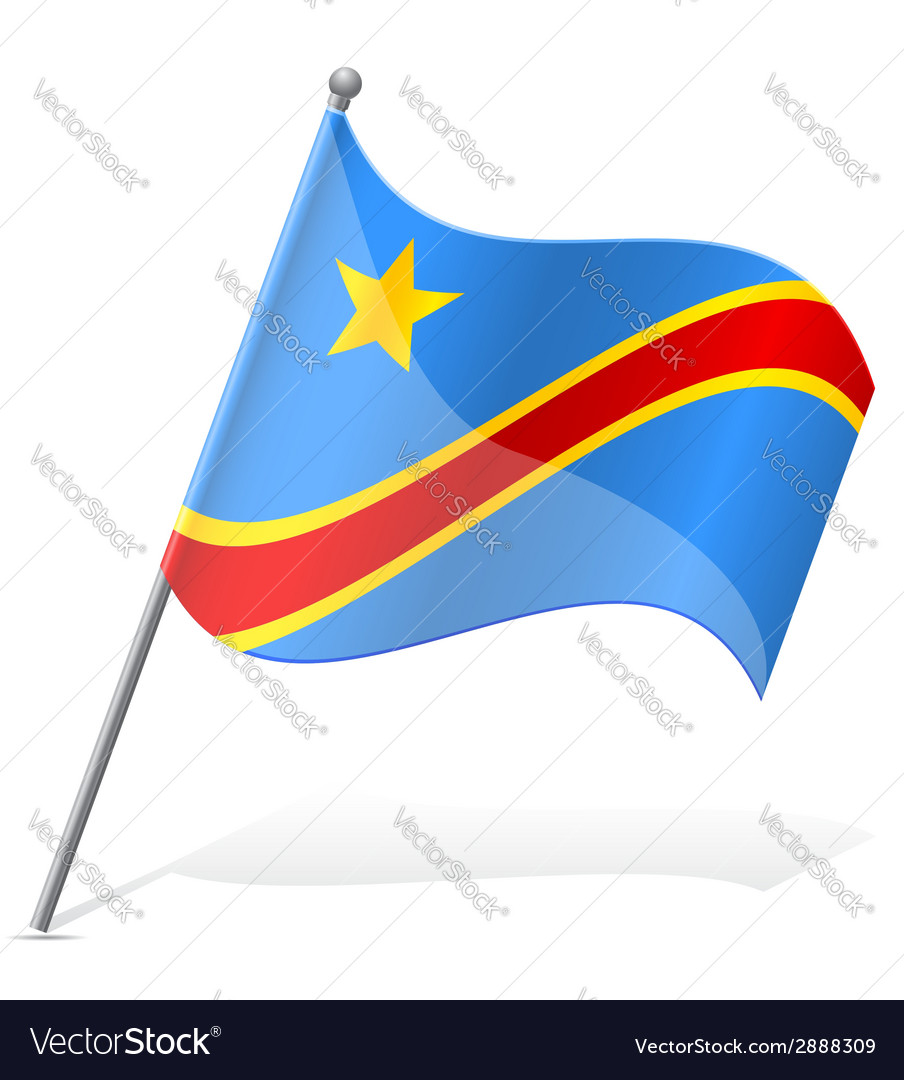 Flag of democratic republic of congo vector | Price: 1 Credit (USD $1)