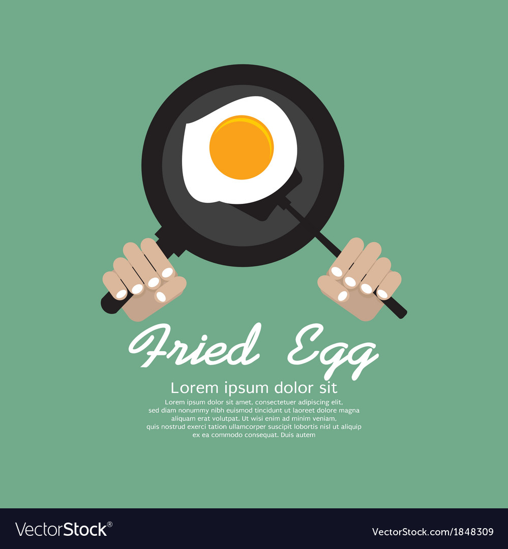 Fried egg in a pan eps10 vector | Price: 1 Credit (USD $1)