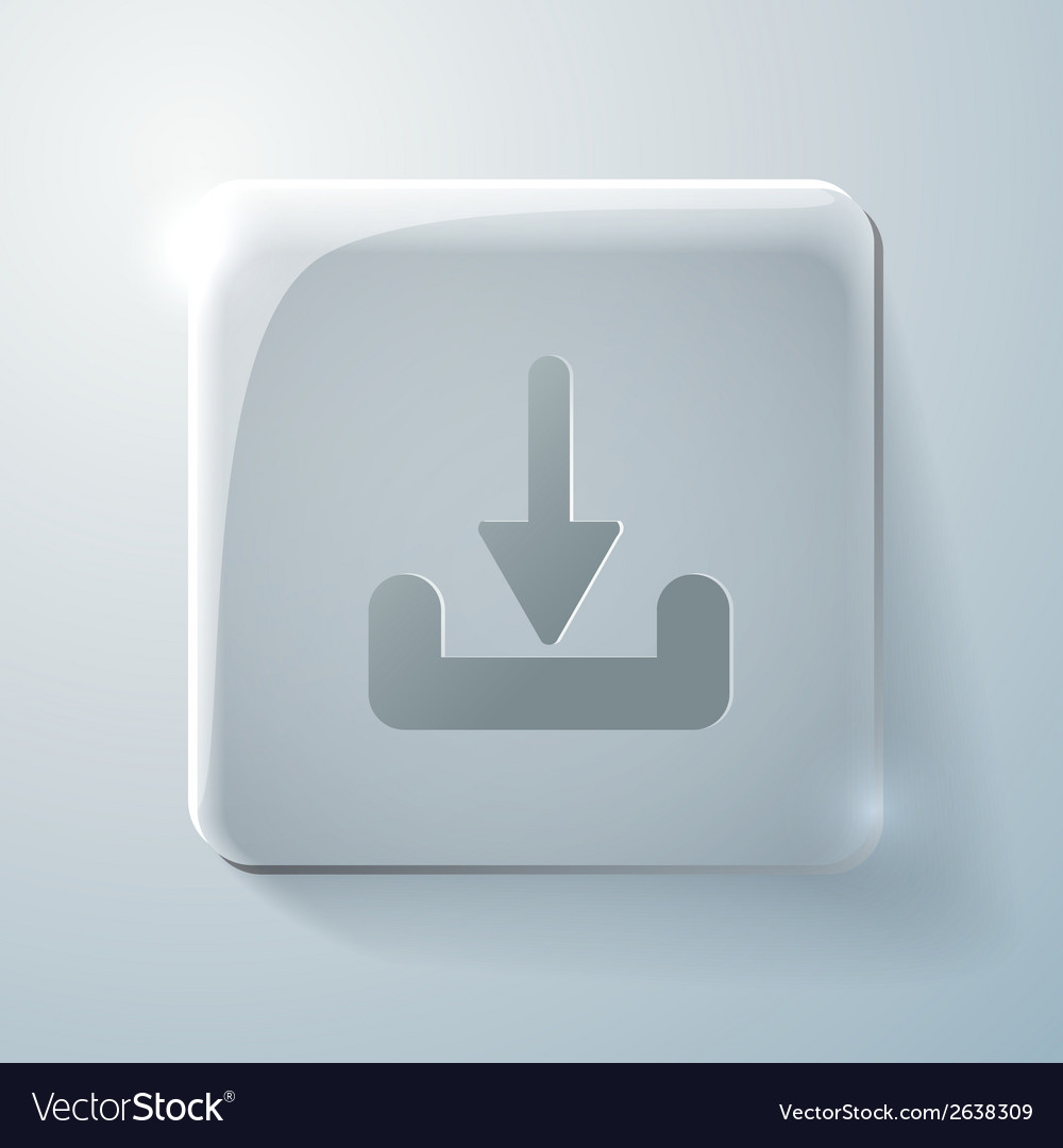 Glass square icon download vector | Price: 1 Credit (USD $1)
