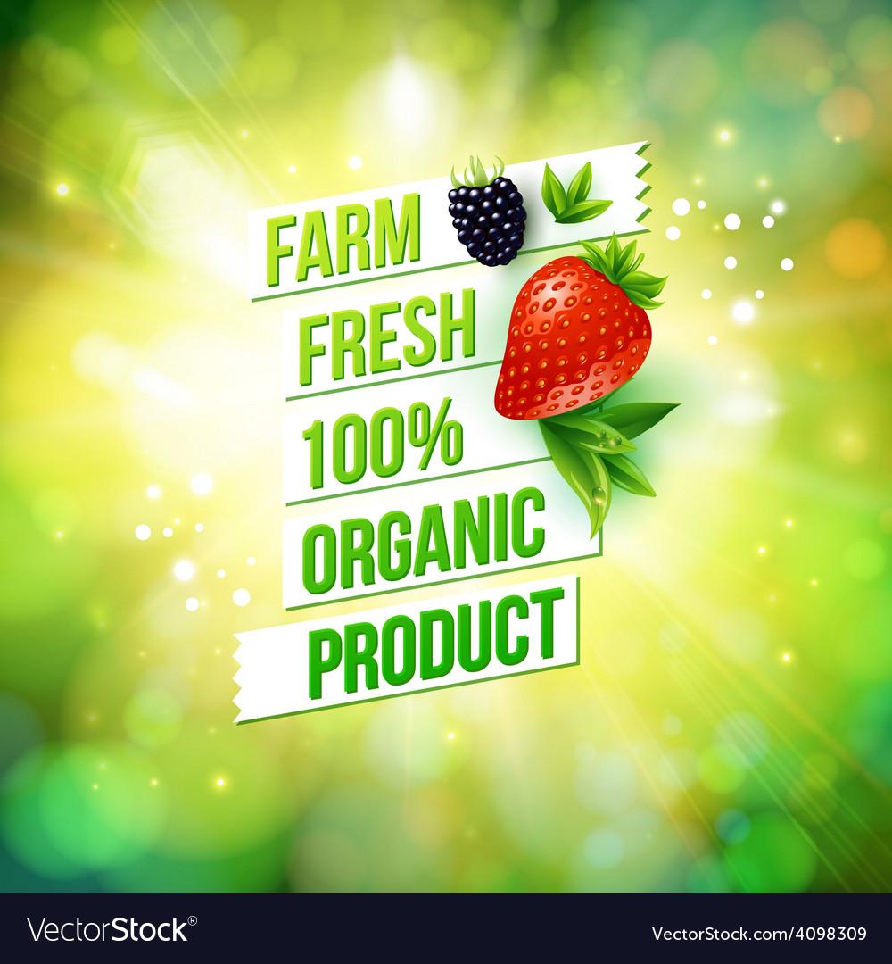 Guaranteed farm fresh organic product vector | Price: 3 Credit (USD $3)