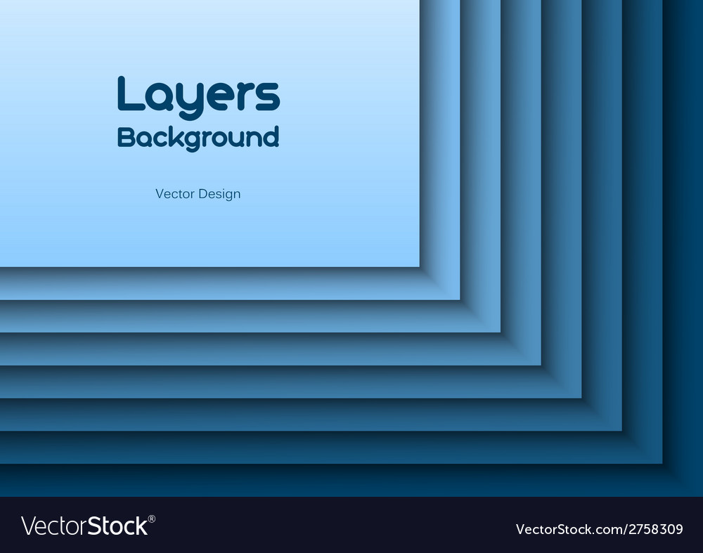 Layers blue text vector | Price: 1 Credit (USD $1)