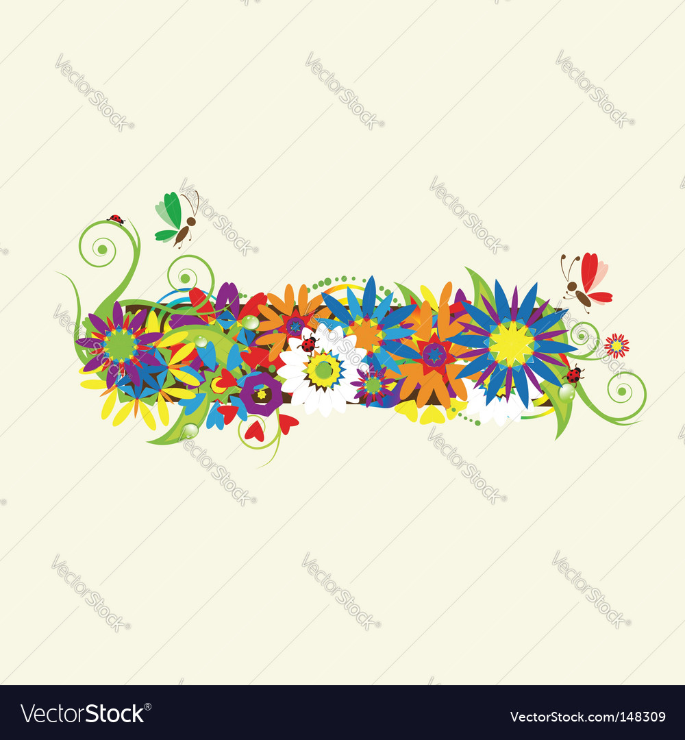 Minus sign floral design vector | Price: 1 Credit (USD $1)