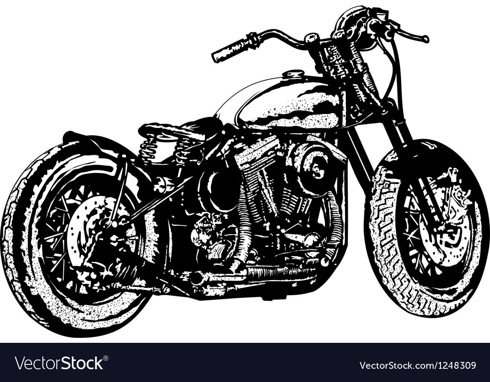 Motorcycle 3 vector | Price: 1 Credit (USD $1)