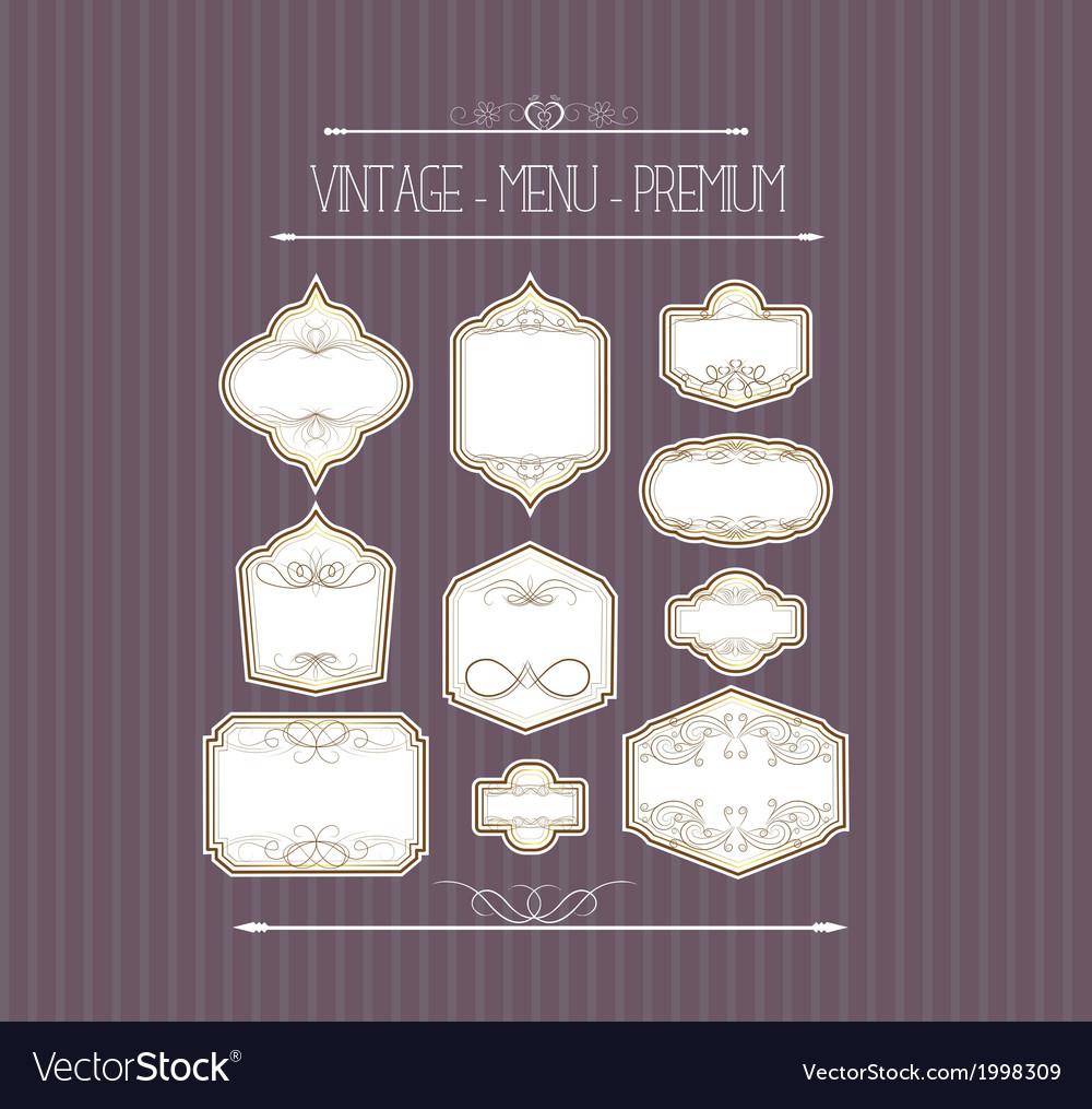 Ornate callgraphic frames vector | Price: 1 Credit (USD $1)