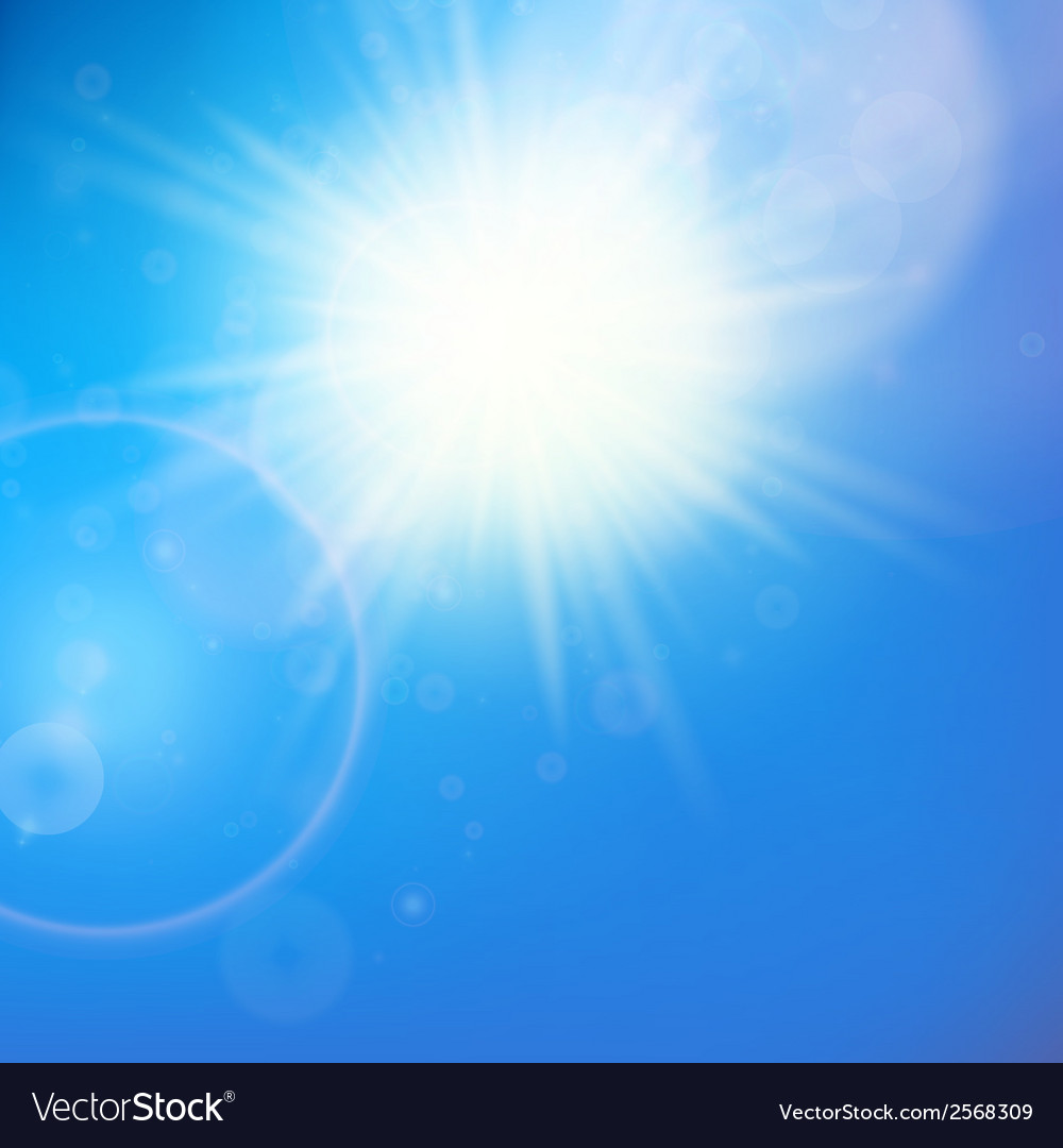 Sun with lens flare template vector | Price: 1 Credit (USD $1)