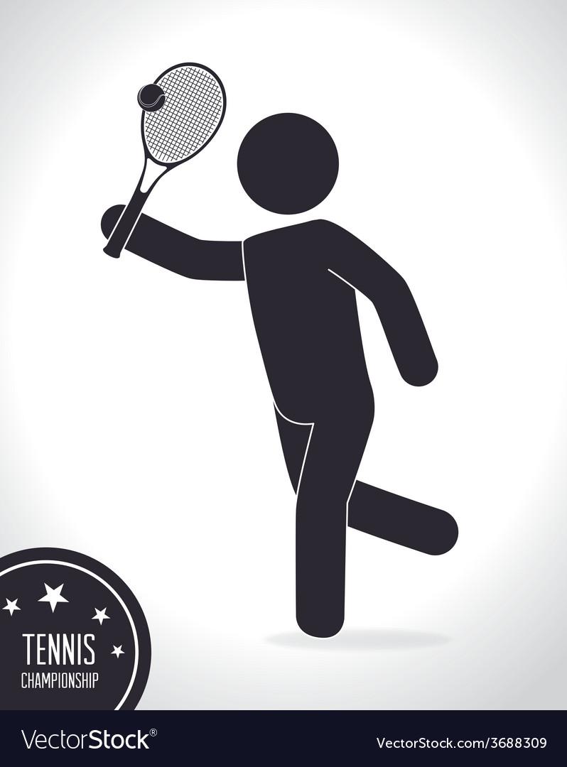Tennis design vector | Price: 1 Credit (USD $1)