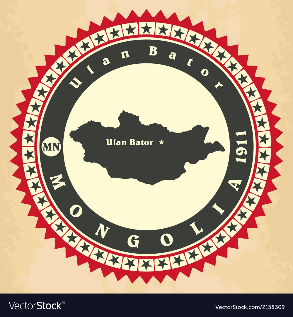 Vintage label-sticker cards of mongolia vector   Price: 1 Credit (USD $1)