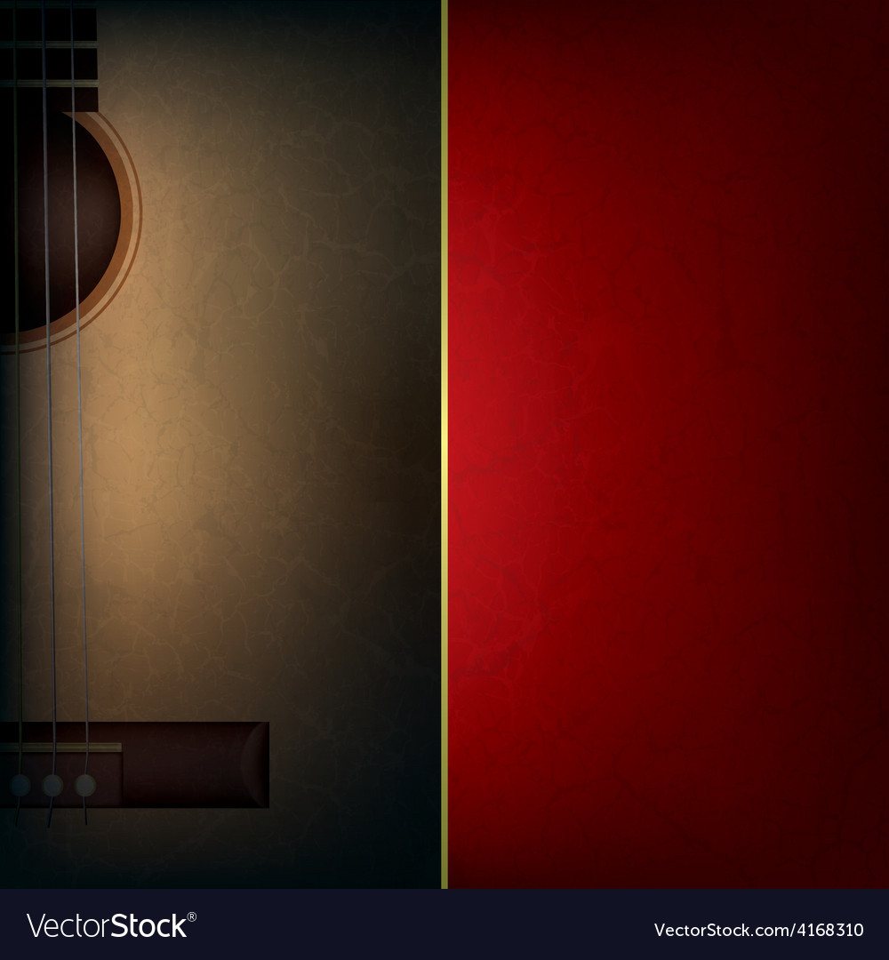 Abstract grunge red music background with acoustic vector | Price: 3 Credit (USD $3)