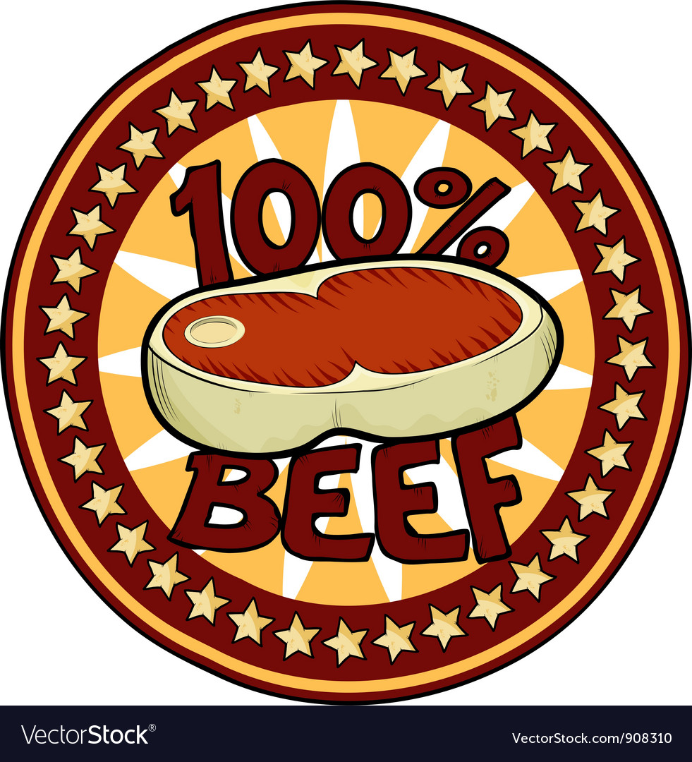 Badge 100 beef vector | Price: 3 Credit (USD $3)