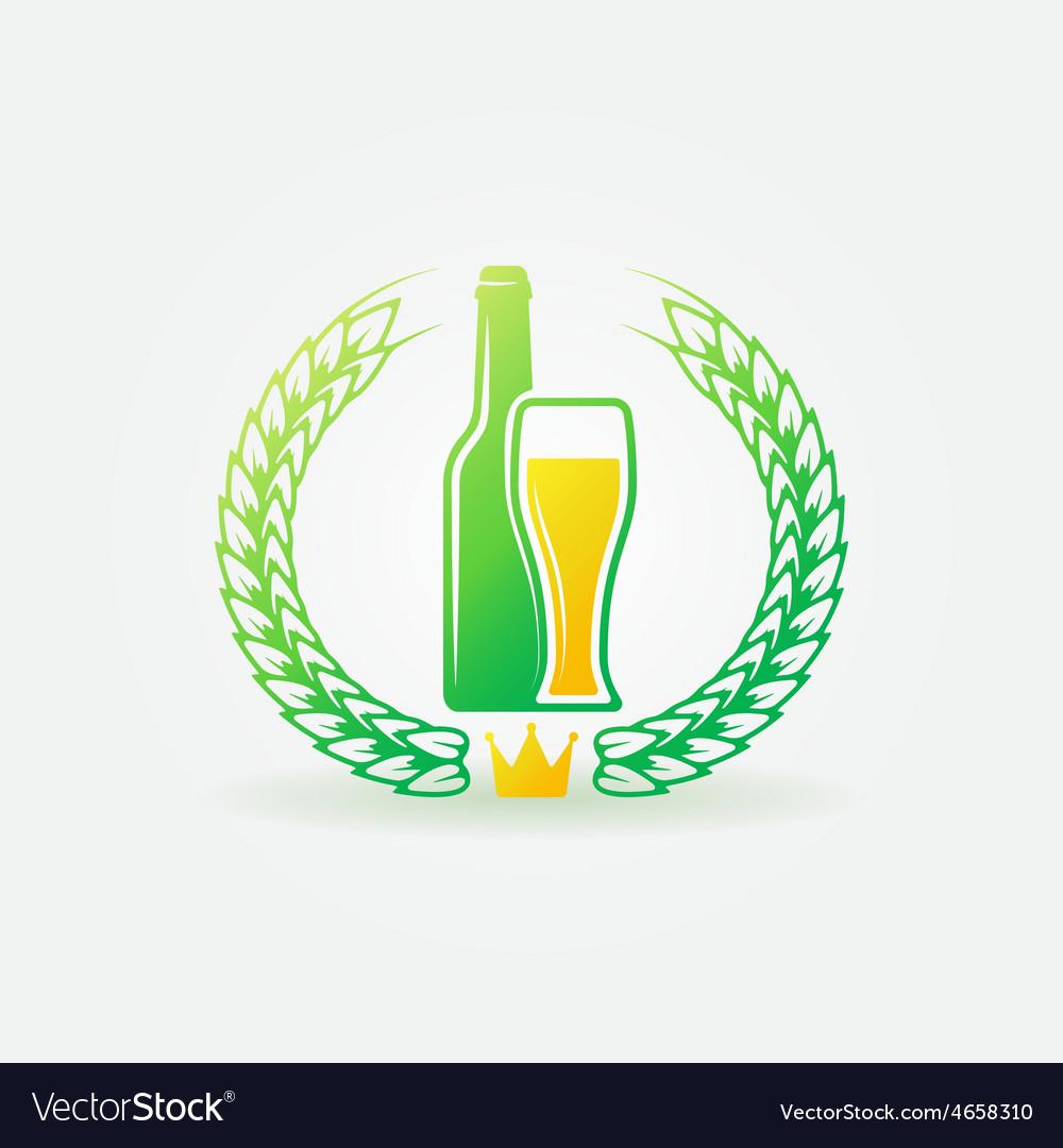 Best beer bright logo or label vector | Price: 1 Credit (USD $1)
