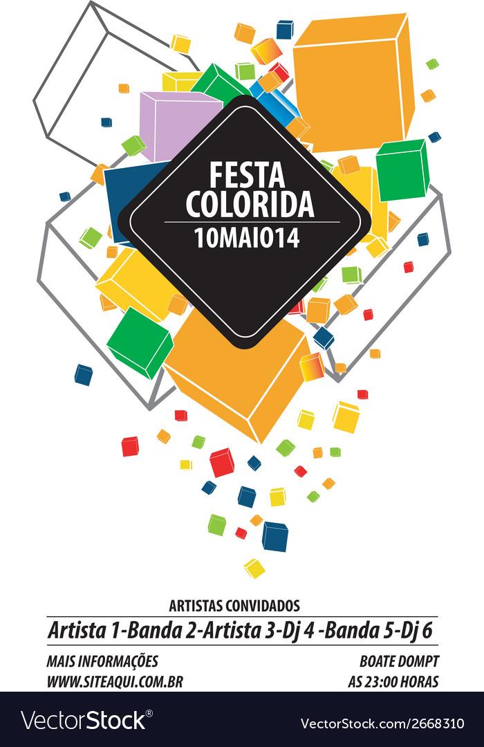 Festa colorida vector | Price: 1 Credit (USD $1)