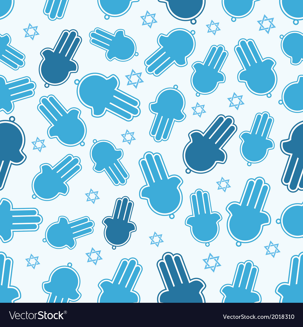 Hamsa hand and star of david seamless pattern vector | Price: 1 Credit (USD $1)