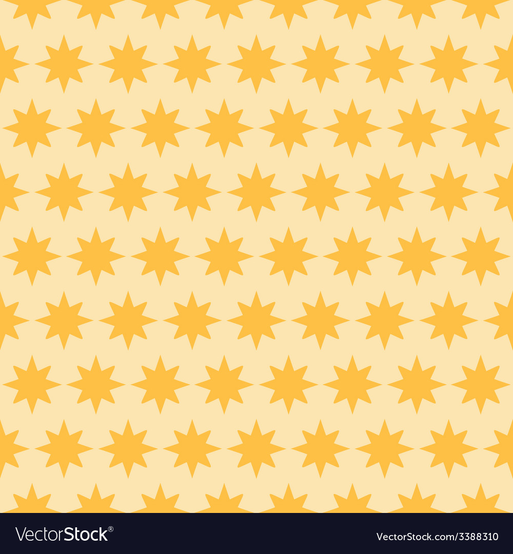 Holiday orange star seamless pattern vector | Price: 1 Credit (USD $1)