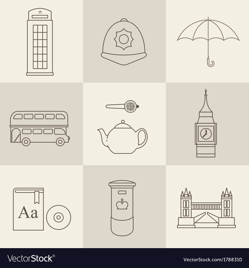 London vintage icons vector   Price: 1 Credit (USD $1)
