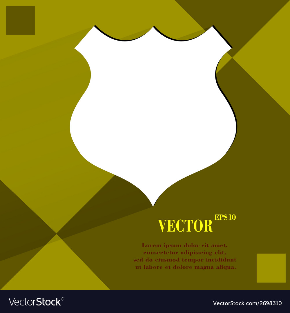 Shield flat modern web design on a flat geometric vector | Price: 1 Credit (USD $1)