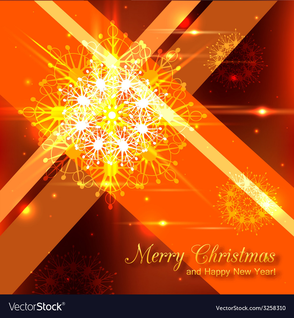 Shining christmas background with crystal vector | Price: 1 Credit (USD $1)
