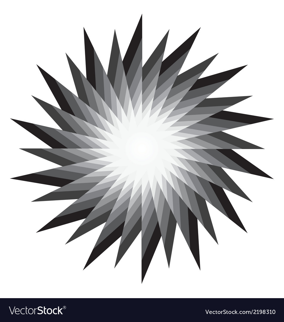 Spiral radiating sun burst vector | Price: 1 Credit (USD $1)