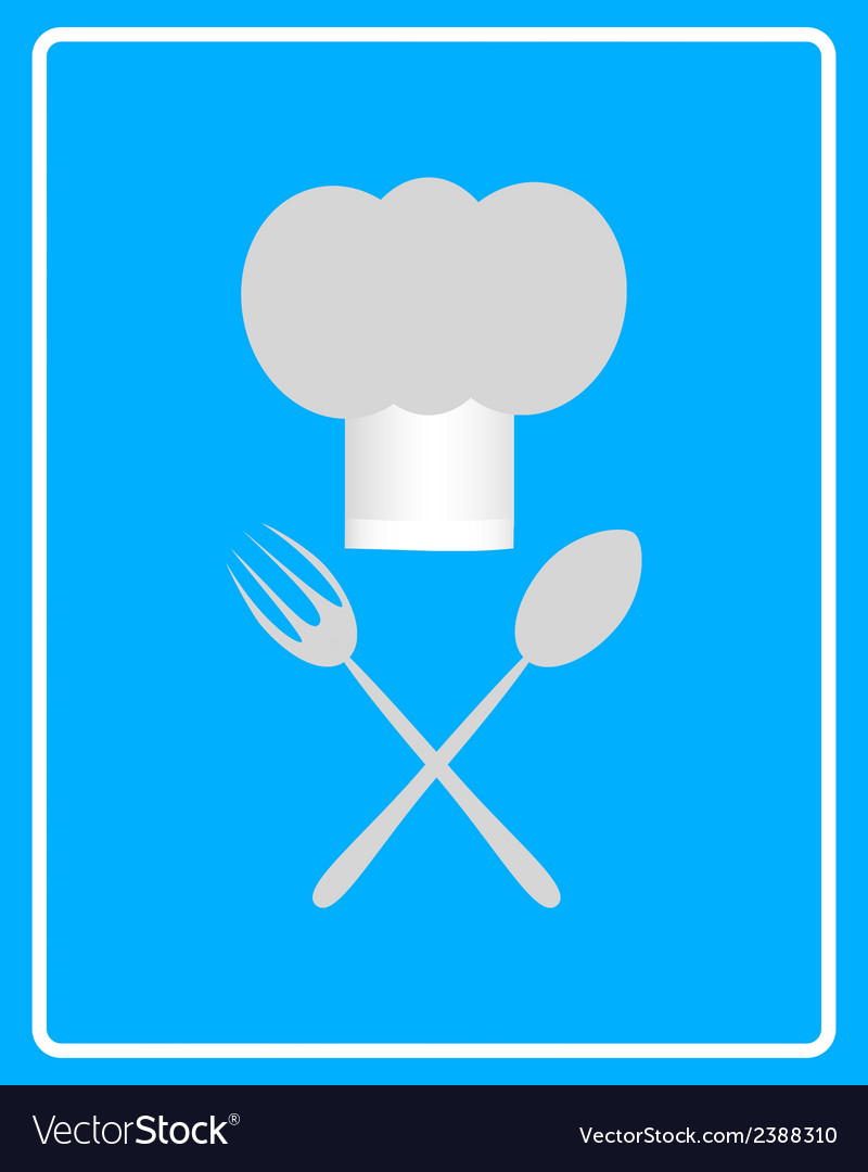 Spoon fork and toque vector | Price: 1 Credit (USD $1)