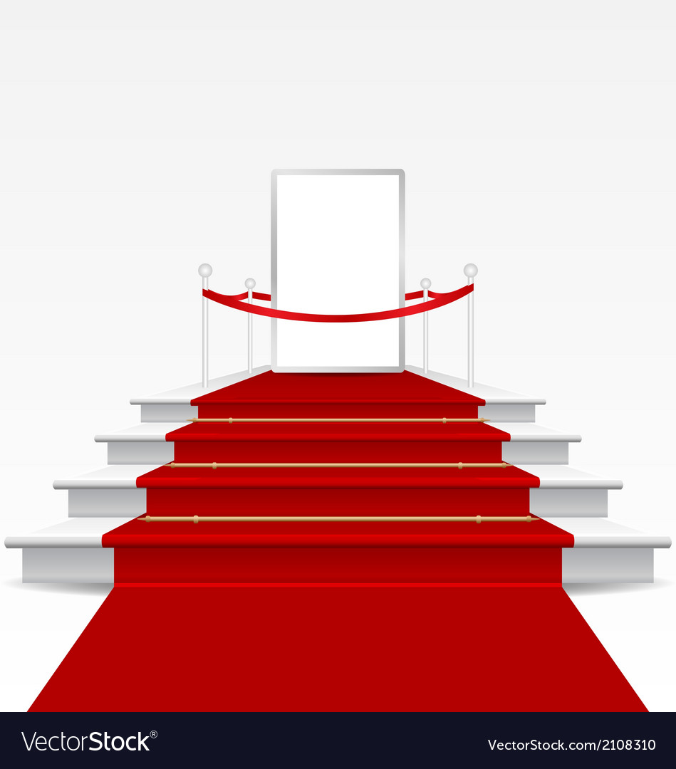 Stairs covered with red carpet vector | Price: 1 Credit (USD $1)