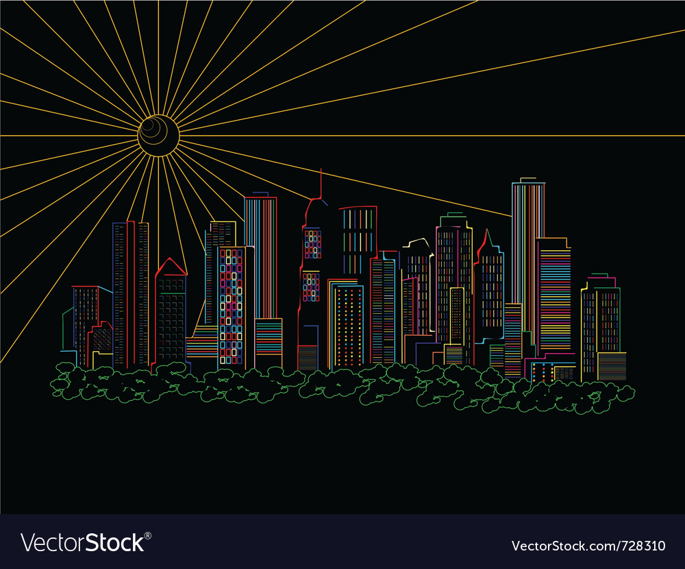 Stylized skyscrapers vector | Price: 1 Credit (USD $1)