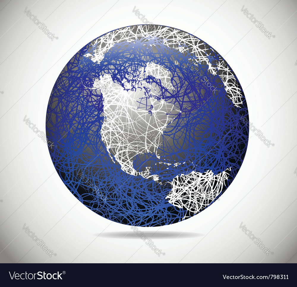Abstract american globe vector | Price: 1 Credit (USD $1)