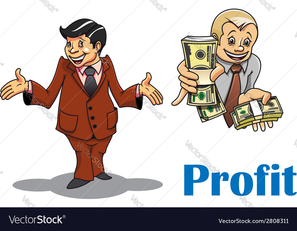 Cartoon businessman and financial expert vector | Price: 1 Credit (USD $1)