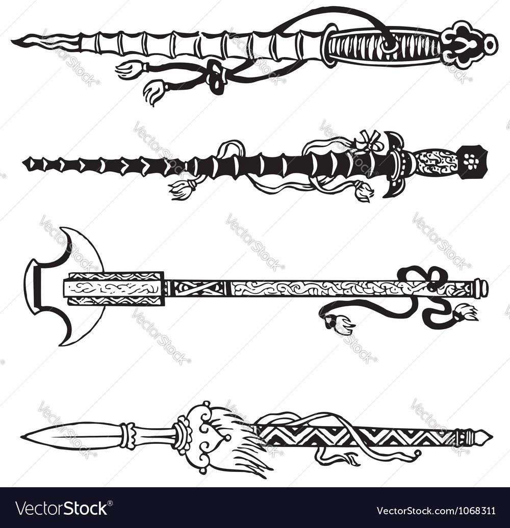 Chinese swords vector | Price: 1 Credit (USD $1)