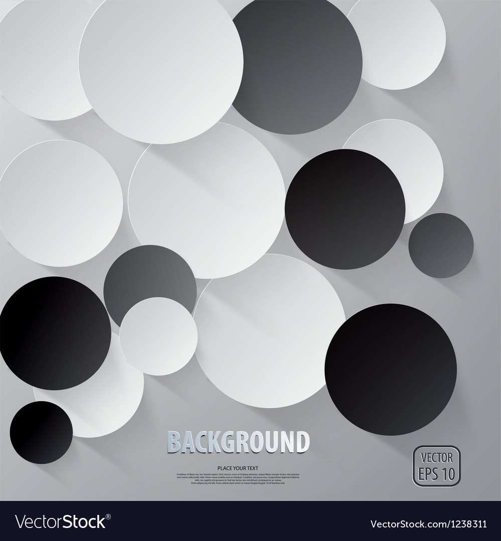 Cut circle background vector | Price: 1 Credit (USD $1)