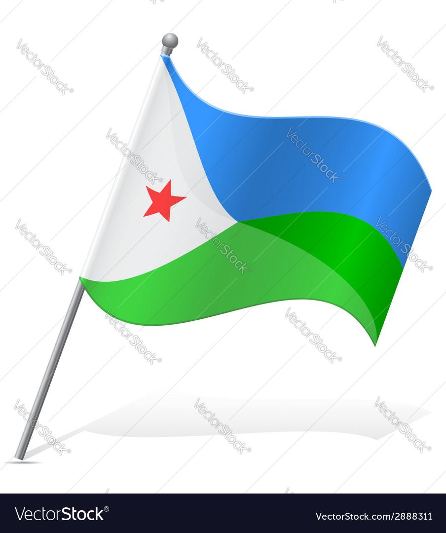 Flag of djibouti vector   Price: 1 Credit (USD $1)