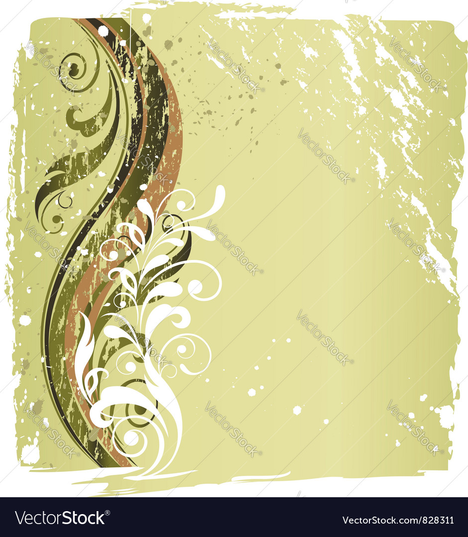 Grunge floral background vector | Price:  Credit (USD $)