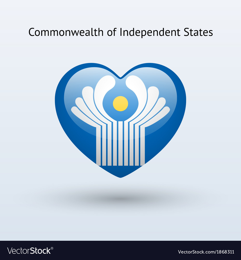 Love commonwealth of independent states symbol vector | Price: 1 Credit (USD $1)