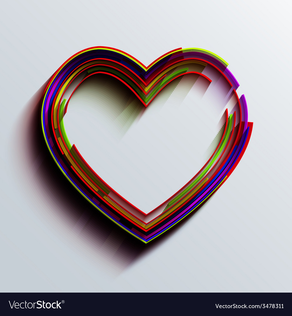 Modern heart background vector | Price: 1 Credit (USD $1)