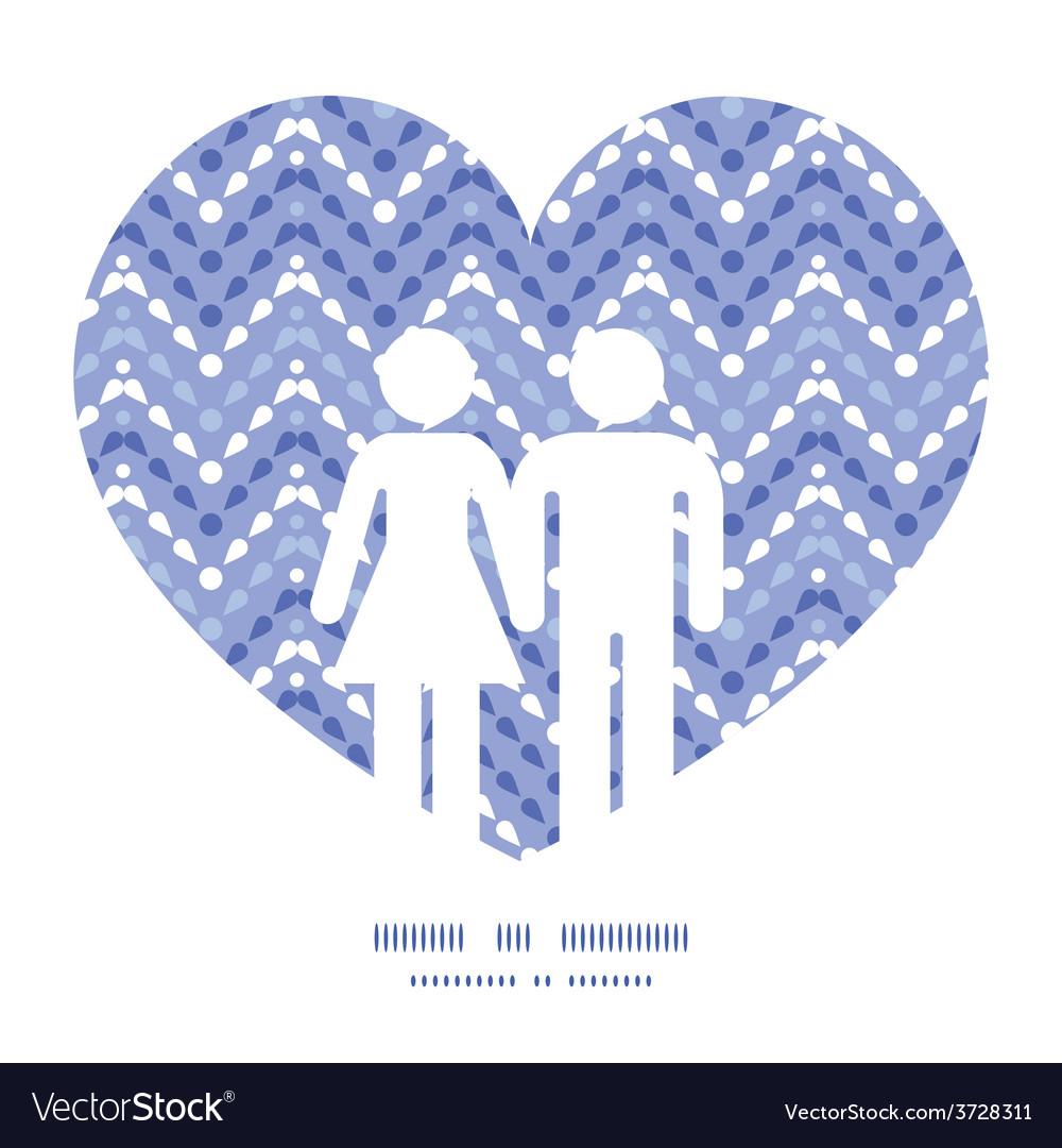 Purple drops chevron couple in love vector   Price: 1 Credit (USD $1)