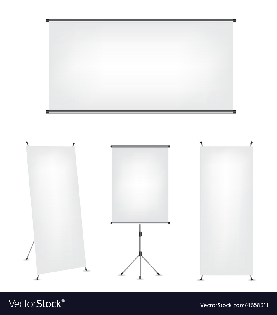 Roll up x-stand banner and projection screen vector | Price: 1 Credit (USD $1)