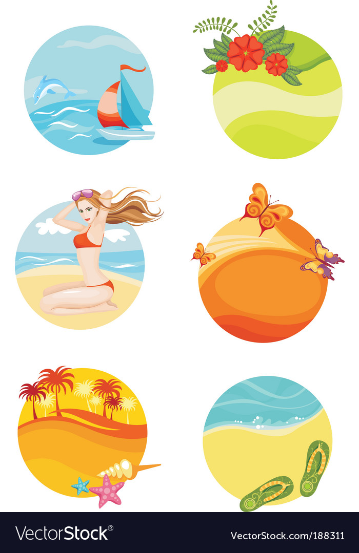 Travel icons set vector | Price: 3 Credit (USD $3)