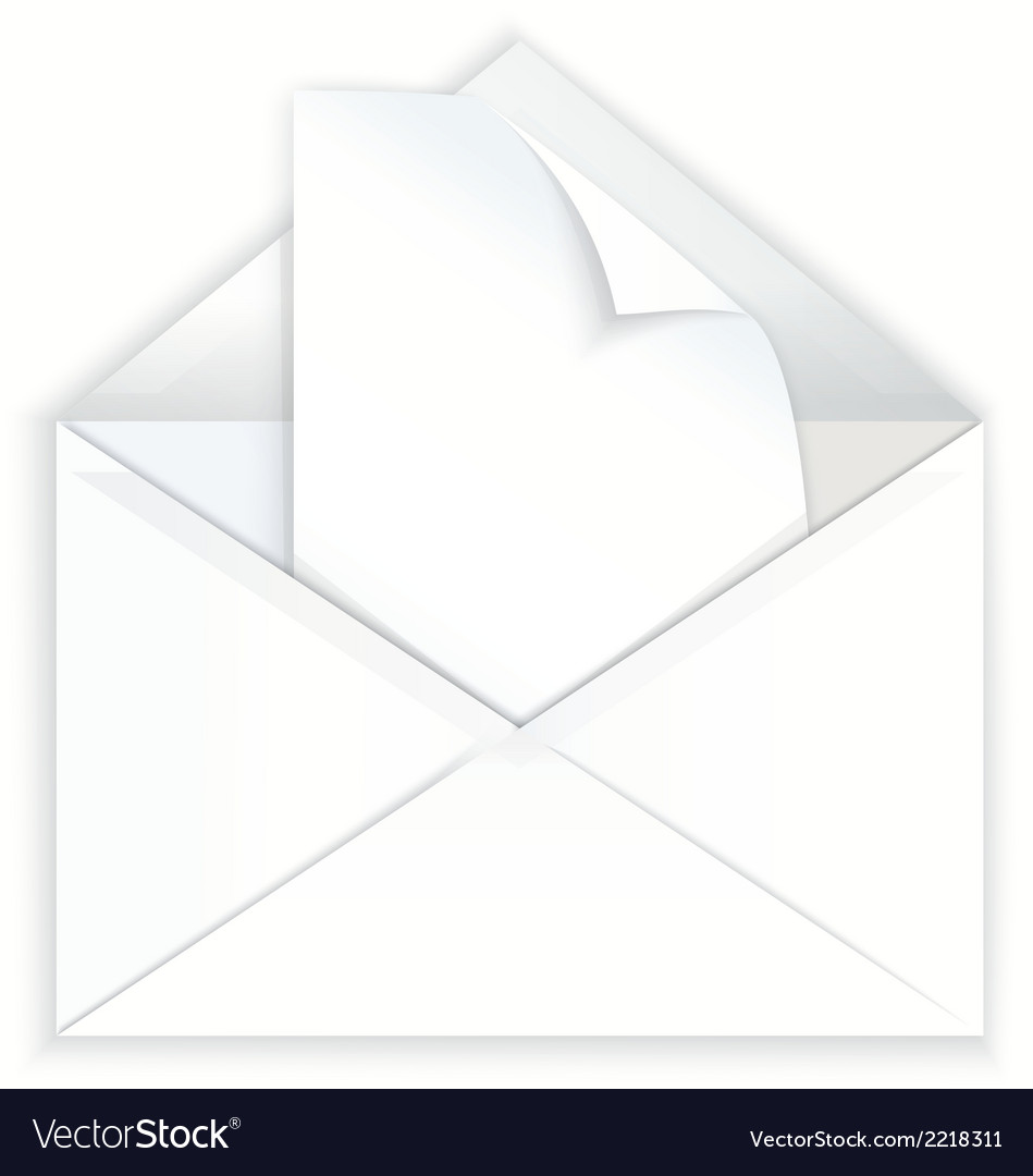 White envelope and corner paper vector   Price: 1 Credit (USD $1)
