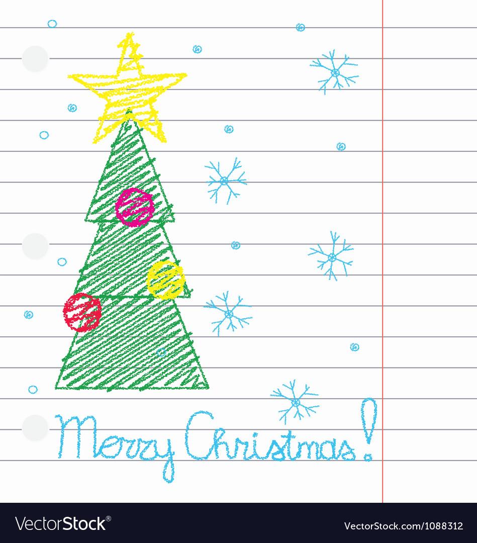 Crayon merry christmas vector   Price: 1 Credit (USD $1)