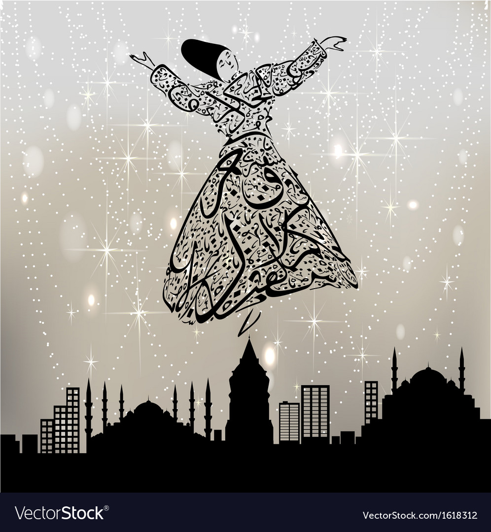 Dervishes and istanbul vector | Price: 1 Credit (USD $1)