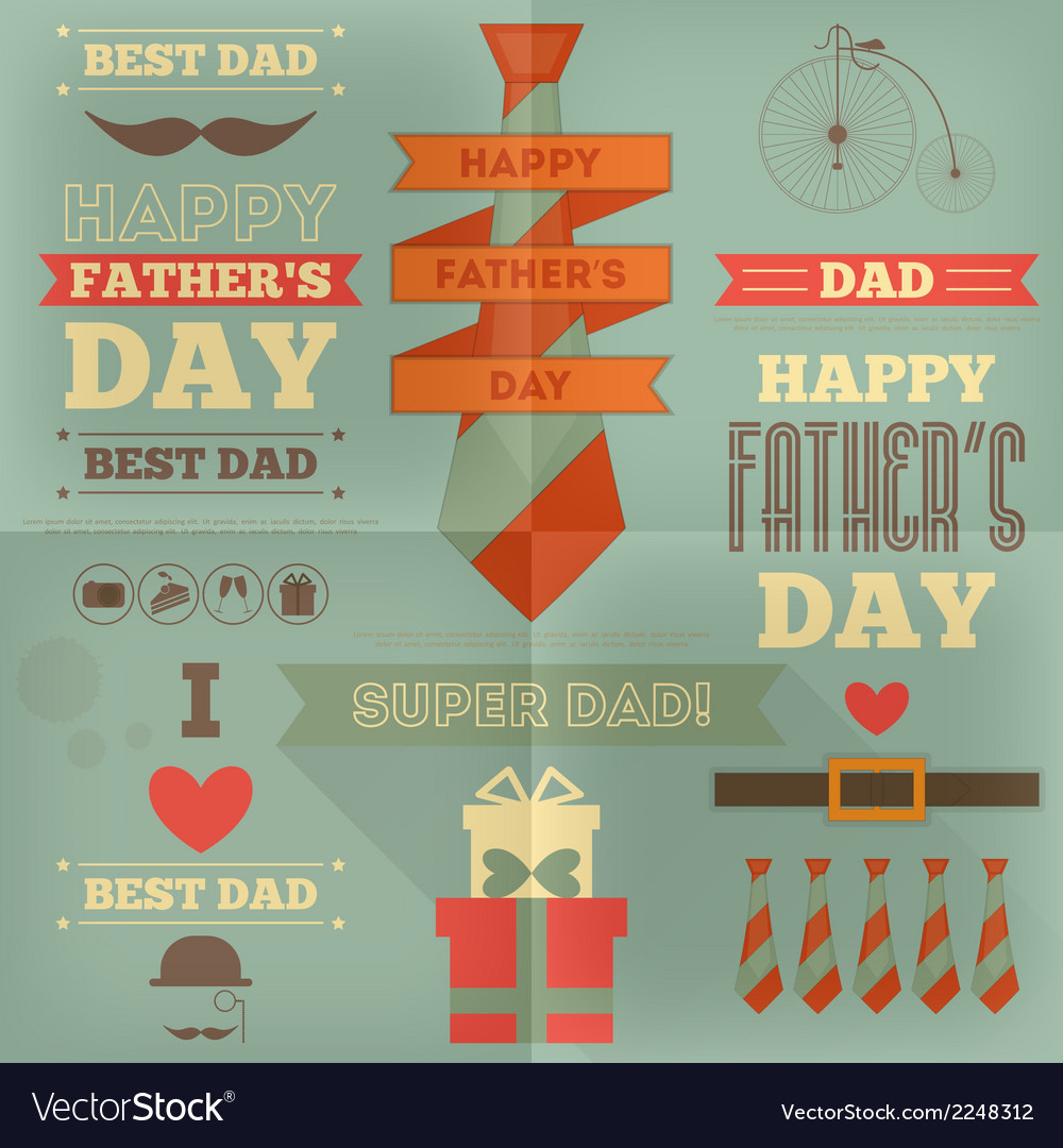 Fathers day placard vector