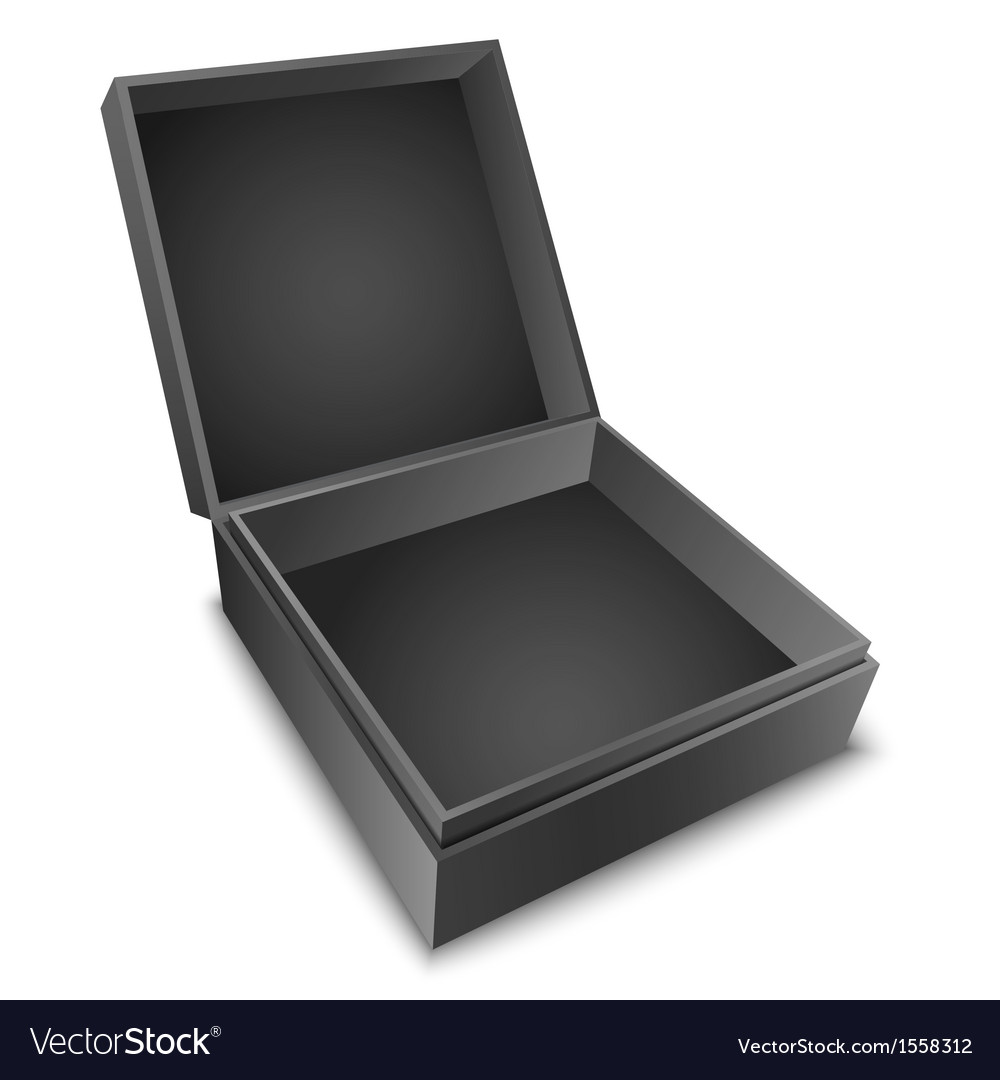 Gift box black vector | Price: 1 Credit (USD $1)