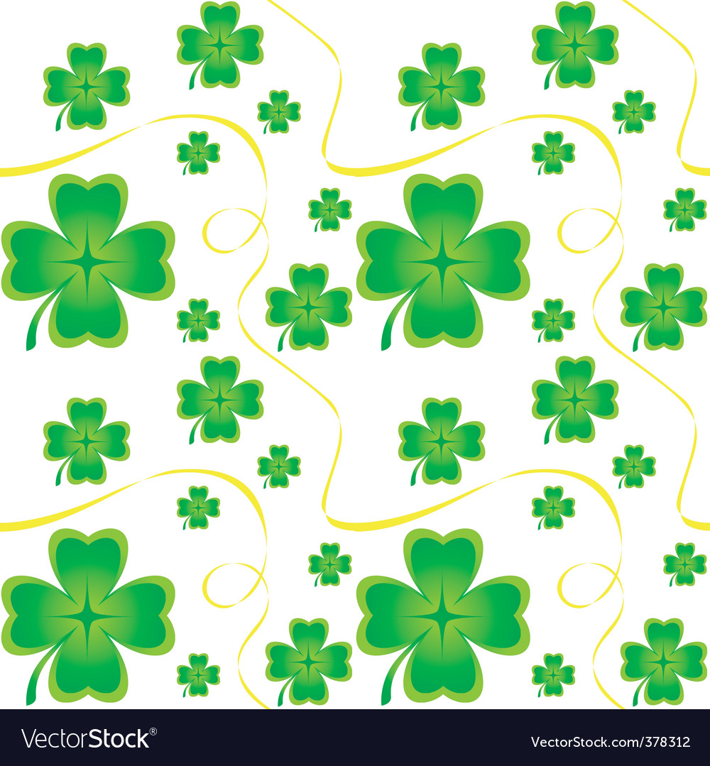 Irish seamless pattern vector | Price: 1 Credit (USD $1)