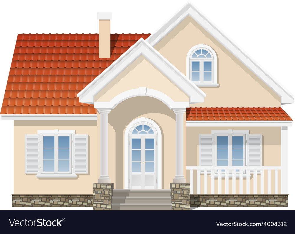Residential house isolated vector | Price: 3 Credit (USD $3)