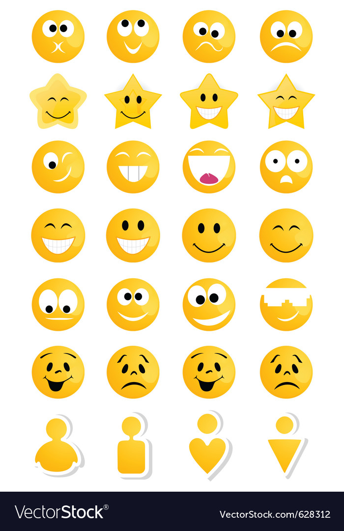 Smiley characters vector | Price: 1 Credit (USD $1)