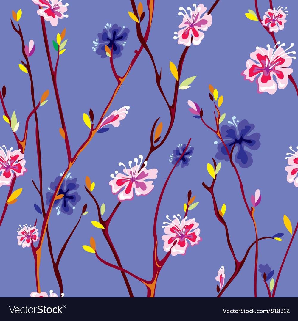 Spring flower background vector | Price: 1 Credit (USD $1)